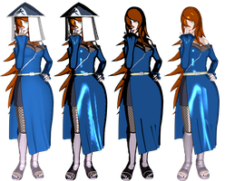 Mei Terumi renders comparison by lezisell