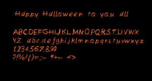 Halloween font for you by TheFreakyPanda