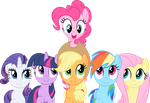 Smile Song Mane 6 Vector by exe2001