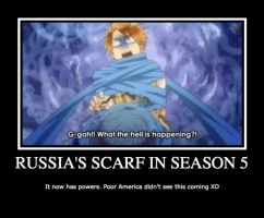 Russia's Scarf Demotivational Poster by neo-chan7