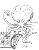 Cornelius the Evil Octopus by Morrgan