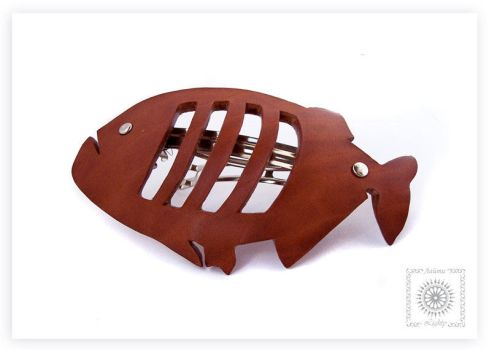 Piranha fish. Leather by byLighty