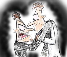 1D and 2D Doofenshmirtz Doodle - you did WHAT ? by Leibi97