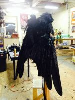 CAW wings Large CLOSED animatronic cable op by Mizuenzeru