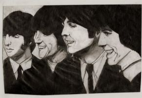 scanned the beatles doodle by havocPigeons