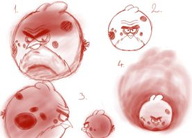 Angry Birds Sketch Dump: Terence by Agi6