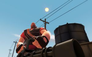 Team Fortress 2 Backgrounds - Heavy by AmberReaper