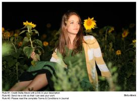 In The Sunflowers.3 by Della-Stock