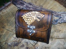 Game of Thrones House Stark Dire Wolf Belt Pouch by fletchstag