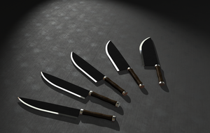 Kitchen knives by Reapsert