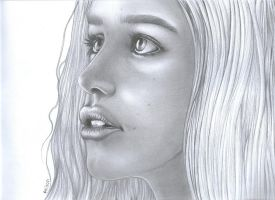 Emilia Clarke (Princess Daenerys) by costage