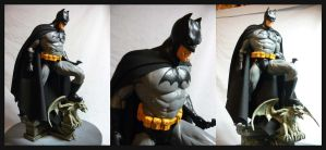 Batman statue cloth cape. by Leebea