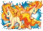 Ponyta_And_Rapidash_1 by EllesDoodleBox