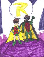 Robin- Burt Ward and Chris O'Donnell by SonicClone