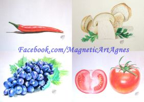 Fruits and vegs by MagneticartAgnes