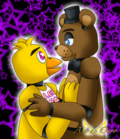 Freddy x Chica by LudiculousPegasus