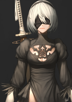 2B the YoRHA by AHDorKveLL