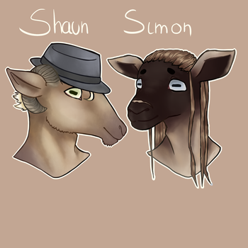 Shaun and Simon by Pantonium