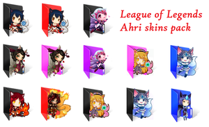 League of Legends Ahri Skins - Folder Icons by Naytii