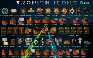 Tronish icons by jlfarfan