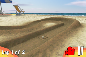 Beach Marbles Racing - 1st scenery - 2 by MrDrayton