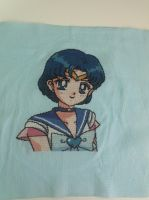 Sailor Mercury cross stitch by Nikkirose555