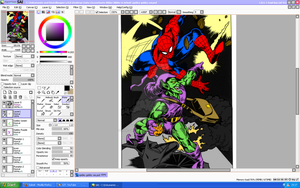 collab test Spidey and Gobby WIP by The-GreenGoblin