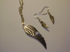 Wings Earring and Necklace set by mca2008