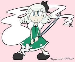 Merry Christmas it's Youmu by Toyoburrito