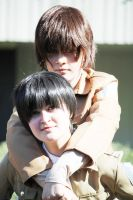 SnK: Levi and Eren cosplay 3 by themuffinshota
