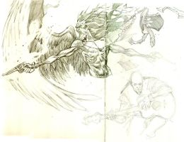 Archangel Miguel sketch 2 by Adrianohq