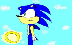 Sonic MS Paint by Carlythefox