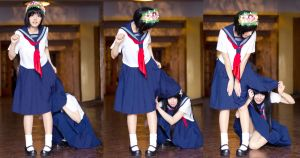 Saten and Uiharu: Underskirt by DariaAmbrosia
