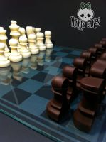 Chocolate Chess Set by Corpse-Queen