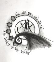 Jack and Sally Tattoo design by claremcgeever