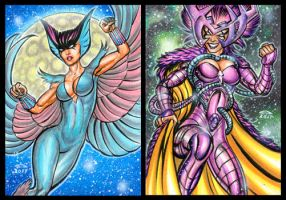 DEATHBIRD PERSONAL SKETCH CARDS JANUARY 2017 by AHochrein2010