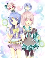 Bubblee Sisters by BunnyBunHime