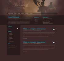 Lineage 2 Wordpress template by Honya