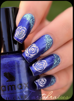 blue roses by Tartofraises