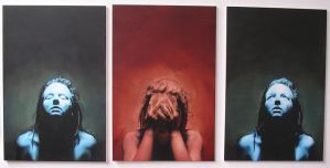 Self Portrait Triptych by AnnaGilhespy