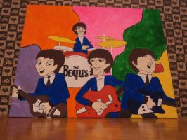 the beatles cartoon by LilyLondon9