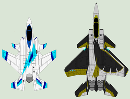 F-35S+ and F-15S+ Omega Mk.I preview by Zhanrae30