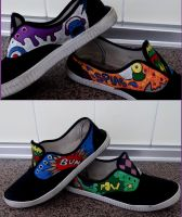 Pop Art shoes by niqitaMonster