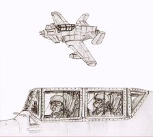 Carandian Bloodhound Mk I  subsonic jet fighters by dan338