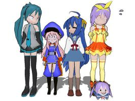 MMD:Lucky Star Cosplay by gothicjinx101