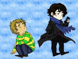 Sherlock and John by UndertakerisEpic