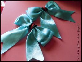 Vocaloid Bows - Miku's Colors by Kitty-Sprinkles