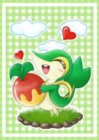 Snivy and Leppa Berry by sekihiro