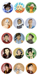 Avatar and Legend of Korra buttons by budgebuttons
