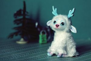 Art doll. Winter deer sold by RedFoxAlice